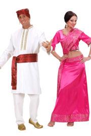 déguisements bollywood, déguisement à deux, déguisements couples indiens bollywood, costumes bollywood, déguisements couples, déguisements soirée à thèmes Déguisement Couple Bollywood