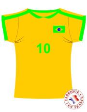 coupe du monde 2018, déco brésil coupe du monde, supporter brésil, accessoire brésil supporter Décoration Supporter Maillot de Foot, Brésil