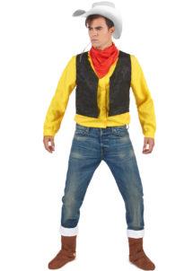déguisement lucky luck, déguisement bande dessinée, déguisement personnage célèbre, déguisement de cowboy, costume de lucky luck, déguisement luckyluc, Déguisement de Lucky Luck, Lonesome Cowboy