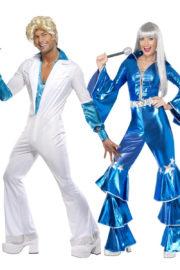 déguisements disco, déguisement couple années 70, déguisements couples, déguisements abba, déguisement à deux disco, déguisement soirée à thème disco Déguisement Couple Années 70 Disco, Abba
