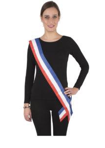 echarpe de maire, écharpe bleu blanc rouge, écharpe de miss france, écharpe tricolore, accessoire bleu blanc rouge, Echarpe de Maire ou de Miss France