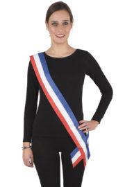 echarpe de maire, écharpe bleu blanc rouge, écharpe de miss france, écharpe tricolore, accessoire bleu blanc rouge Echarpe de Maire ou de Miss France