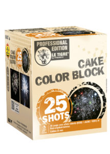 feu d'artifice cake pyragric, feux d'artifice automatiques, achat feux d'artifice paris, feux d'artifices compacts, feux d'artifices pyragric, Feux d'Artifices, Compacts, Cake Colour Block
