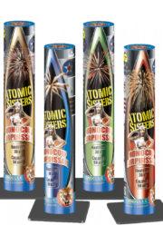 feu d'artifice chandelle mono coup, feu d'artifice bombe, feu d'artifice mortier, acheter feux d'artifices paris, chandelles d'artifice Feux d'Artifices, Chandelles Atomic Sisters Monocoup