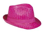 chapeau hawaï, chapeau hawaïen, accessoires hawaï, accessoires pour soirée hawaïenne, chapeaux de paille, accessoires chapeaux Chapeau Hawaï, Aruba, Paille Rose Fuchsia