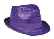 chapeau hawaï, chapeau hawaïen, accessoires hawaï, accessoires pour soirée hawaïenne, chapeaux de paille, accessoires chapeaux Chapeau Hawaï, Aruba, Paille Violet