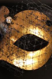loup vénitien, masque vénitien, loup vénitien fait à la main, masque vénitien haute qualité, masque pour carnaval de venise, loup vénitien voilette Vénitien Genova Veletta, Or