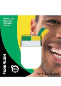 maquillage supporter brésilcoupe du monde 2018, déco brésil coupe du monde, supporter brésil, accessoire brésil supporter, Maquillage de Supporter, Brésil, Vert et Jaune