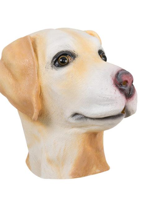 masques animaux, masque de chien, masque de chien en latex, masques d'animaux Masque de Chien Espiègle, en Latex