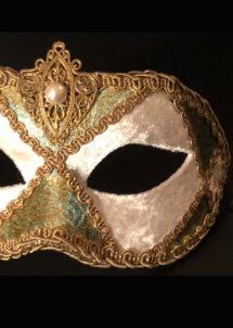 masque vénitien, masque carnaval de Venise, loup vénitien, masque vénitien, masque carnaval de venise, Vénitien Arlecchino Stoffa, Passementerie