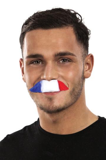 moustache bleu blanc rouge, moustache tricolore, accessoire coupe du monde 2018, accessoire equipe de france, accessoire coupe du monde Moustache de Supporter, France