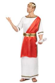 déguisement romain homme, costume de romain, déguisement de romain homme, déguisement empereur romain Déguisement Romain, Toge Rouge et Blanche
