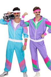 déguisements à deux, déguisements années 80, déguisement survêtement années 80, déguisements de beauf, déguisement enterrement de vie de garçon, déguisements humour, déguisements soirées à thèmes années 80 Déguisement Couple Années 80, Shell Suits