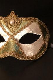 loup vénitien, masque vénitien, loup vénitien fait à la main, masque vénitien haute qualité, masque pour carnaval de venise Vénitien Arlecchino Stoffa, Passementerie