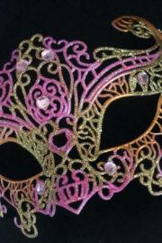loup vénitien, masque vénitien, loup vénitien fait à la main, masque vénitien haute qualité, masque pour carnaval de venise Vénitien Filo, Rose et Or