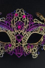 loup vénitien, masque vénitien, loup vénitien fait à la main, masque vénitien haute qualité, masque pour carnaval de venise Vénitien Filo, Violet et Or