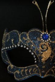 loup vénitien, masque vénitien, loup vénitien fait à la main, masque vénitien haute qualité, masque pour carnaval de venise Vénitien Libellula, Bleu et Or