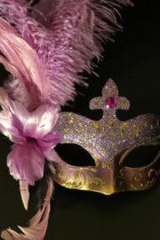 masque vénitien, loup vénitien, loup vénitien à plumes, masque vénitien fait à la main, masque carnaval de venise, vénitien signorina baby à plumes Venitien Signorina Baby, Bouquet Rose