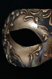 loup vénitien, masque vénitien, loup vénitien fait à la main, masque vénitien haute qualité, masque pour carnaval de venise Vénitien Stucco, Stuc et Peintures, Cuivré