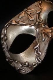 loup vénitien, masque vénitien, loup vénitien fait à la main, masque vénitien haute qualité, masque pour carnaval de venise Vénitien Stucco, Stuc et Peintures Argent