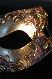 loup vénitien, masque vénitien, loup vénitien fait à la main, masque vénitien haute qualité, masque pour carnaval de venise Vénitien Stucco, Stuc et Peintures Or