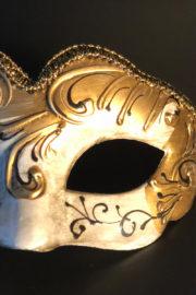 loup vénitien, masque vénitien, loup vénitien fait à la main, masque vénitien haute qualité, masque pour carnaval de venise, Vénitien Stucco Pieno, Or