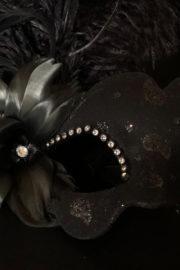 loup vénitien, masque vénitien, loup vénitien fait à la main, masque vénitien haute qualité, masque pour carnaval de venise Vénitien Tosca, Bouquet Noir