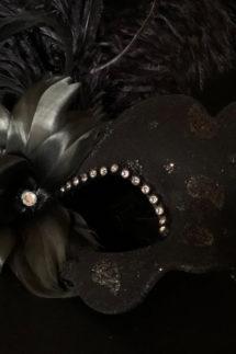 loup vénitien, masque vénitien, loup vénitien fait à la main, masque vénitien haute qualité, masque pour carnaval de venise, Vénitien Tosca, Bouquet Noir