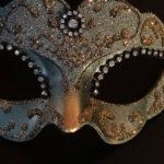 loup vénitien, masque vénitien, loup vénitien fait à la main, masque vénitien haute qualité, masque pour carnaval de venise Vénitien Violetta, Vert Nordique et Or