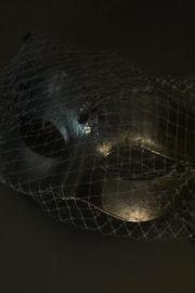 loup vénitien, masque vénitien, loup vénitien fait à la main, masque vénitien haute qualité, masque pour carnaval de venise, loup vénitien voilette Vénitien Genova Veletta, Noir