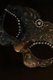 loup vénitien, masque vénitien, loup vénitien fait à la main, masque vénitien haute qualité, masque pour carnaval de venise Vénitien Violetta, Noir et Or