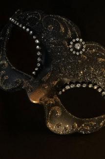 loup vénitien, masque vénitien, loup vénitien fait à la main, masque vénitien haute qualité, masque pour carnaval de venise, Vénitien Violetta, Noir et Or
