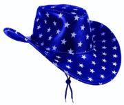 chapeau de cowboy, chapeau étoiles, chapeau américain, chapeau de cowboy américain Chapeau de Cowboy Texas, Bleu Etoiles Blanches