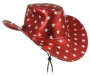 chapeau de cowboy, chapeau étoiles, chapeau américain, chapeau de cowboy américain Chapeau de Cowboy Texas, Rouge Etoiles Blanches