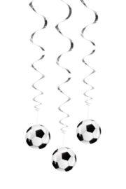décorations foot, décos ballons de foot, décorations coupe du monde, décorations foot, suspensions foot Suspensions Ballons de Foot, Spirales
