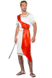 déguisement romain homme, costume de jules césar, costume de romain adulte, déguisement de romain homme, déguisement empereur romain Déguisement Romain, Toge Rouge et Feuilles d'Or