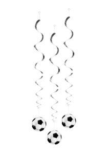 décorations foot, décos ballons de foot, décorations coupe du monde, décorations foot, suspensions foot, Décorations Ballons de Foot, Spirales