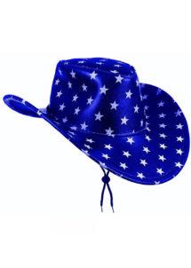 chapeau de cowboy, chapeau étoiles, chapeau américain, chapeau de cowboy américain, Chapeau de Cowboy Texas, Bleu Etoiles Blanches