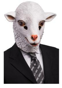 masque d'agneau, masque de mouton, masque animal, masques animaux, masque d'agneau, masque animal latex, Masque d'Agneau, Latex