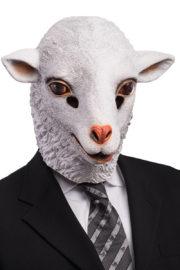 masque d'agneau, masque de mouton, masque animal, masques animaux, masque d'agneau, masque animal latex Masque d'Agneau, Latex
