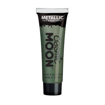 peinture corps et visage, maquillage moon, peinture vert métal maquillage, peinture visage maquillage, maquillage vert Peinture Corps et Visage, Moon Cosmic, Vert Métal