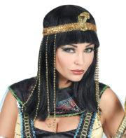 perruque cléopatre, perruque égyptienne, perruque de cléopatre, accessoire déguisement cleopatre, perruque eygpte Perruque Cléopatre, Impératrice Egyptienne, Noire