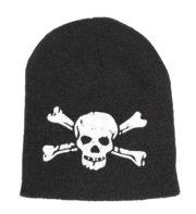 bonnet tête de mort, bonnet biker, accessoire bonnet tête de mort, accessoire halloween, chapeau halloween Bonnet Tête de Mort Biker