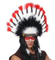 coiffe d'indiens, accessoires déguisements d'indiens, coiffes d'indiens en plumes, plumes d'indiens coiffe Coiffe d'Indien, Cheyenne