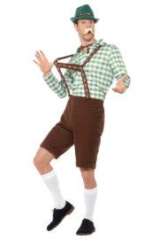 déguisement bavarois, déguisement oktoberfest, déguisement fête de la bière, salopette oktoberfest Déguisement Bavarois Oktoberfest, Vert et Marron