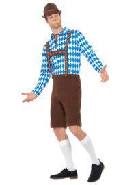 déguisement bavarois, déguisement oktoberfest, déguisement fête de la bière, salopette oktoberfest Déguisement Bavarois Oktoberfest, Marron et Losanges