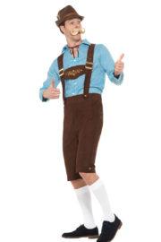 déguisement bavarois, déguisement oktoberfest, déguisement fête de la bière, salopette oktoberfest Déguisement Bavarois Oktoberfest, Bleu et Marron