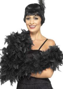boa en plumes, boa noir, accessoire années 20, accessoires années 30, accessoire charleston, accessoire cabaret, Boa en Plumes Luxe, 80 gr, Noir