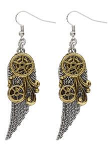 boucles d'oreilles steampunk, bijoux steampunk, accessoire steampunk, Boucles d'Oreilles Steampunk, Ailes et Rouages