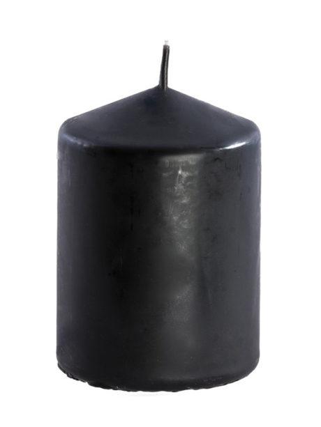 bougie noire halloween, bougie de décoration, décorations bougies halloween Bougie Noire 10 cm